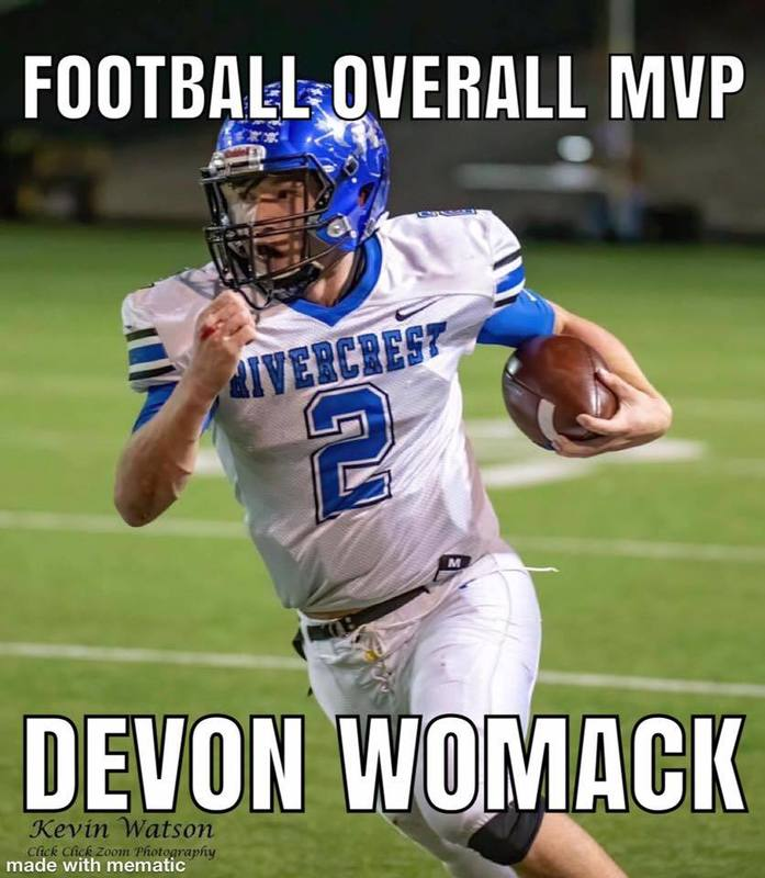 Football overall MVP Devon Womack