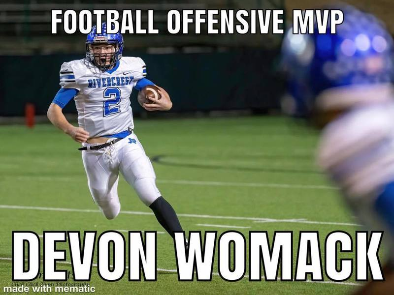 Football Offensive MVP Devon Womack