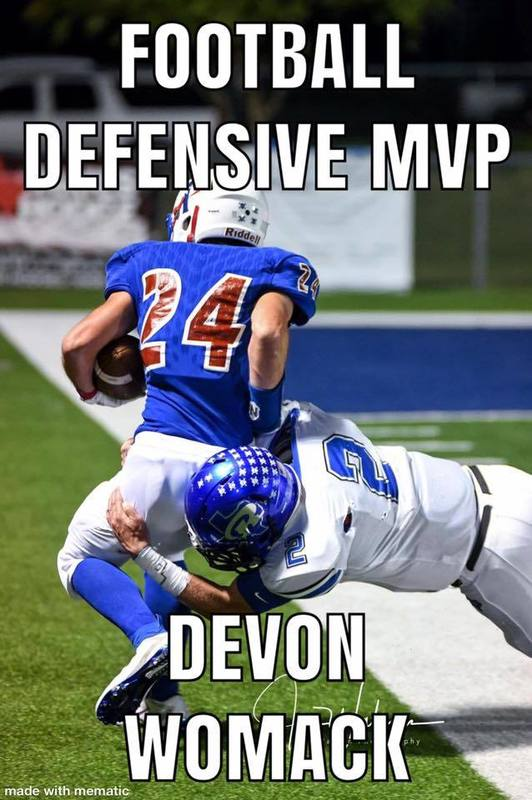Football Defensive MVP Devon Womack