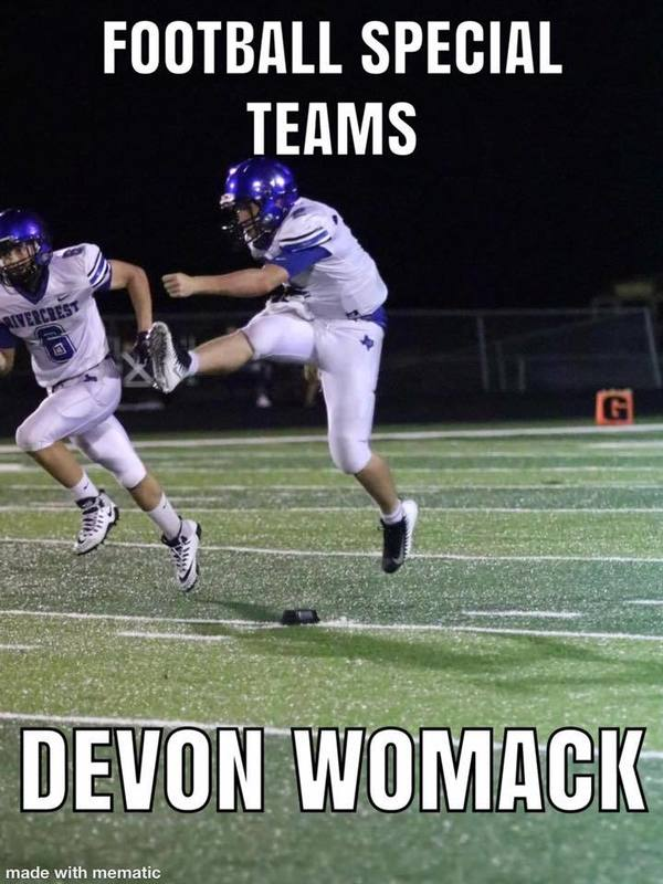 Football Special Teams Devon Womack