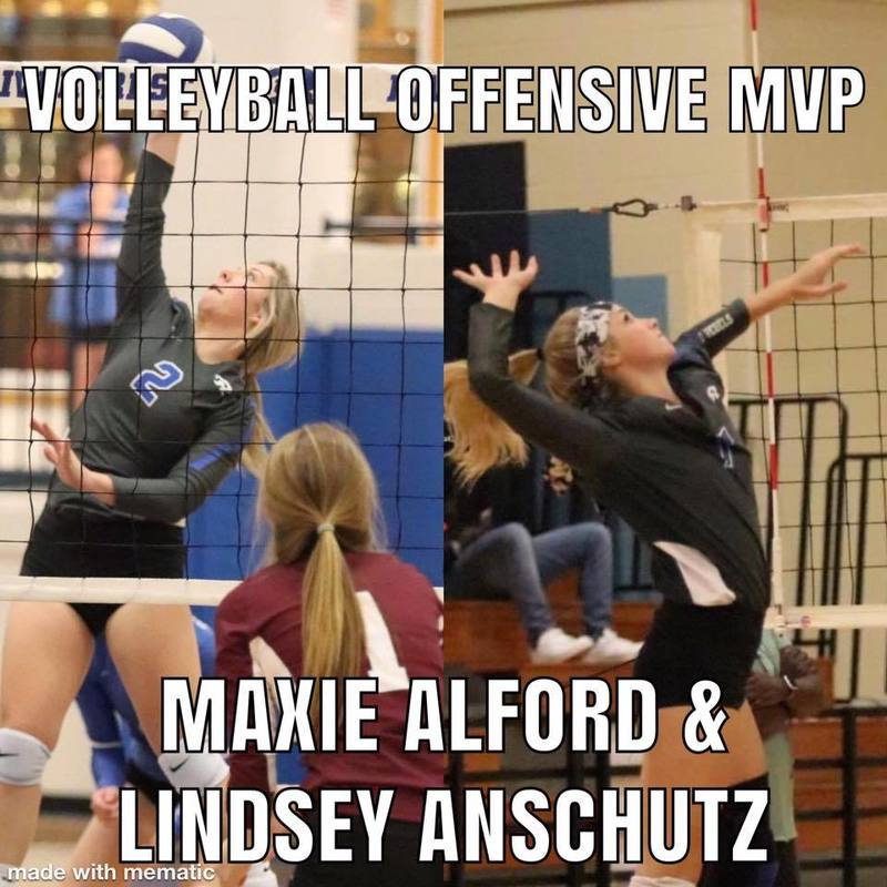 Volleyball Offensive MVP Maxie Alford & Lindsey Anschutz