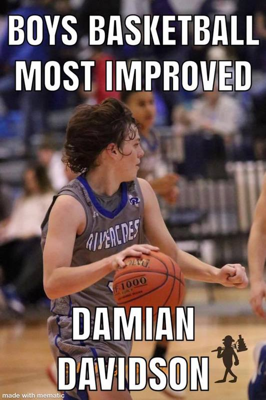 Boys Basketball Most Improved Damian Davidson