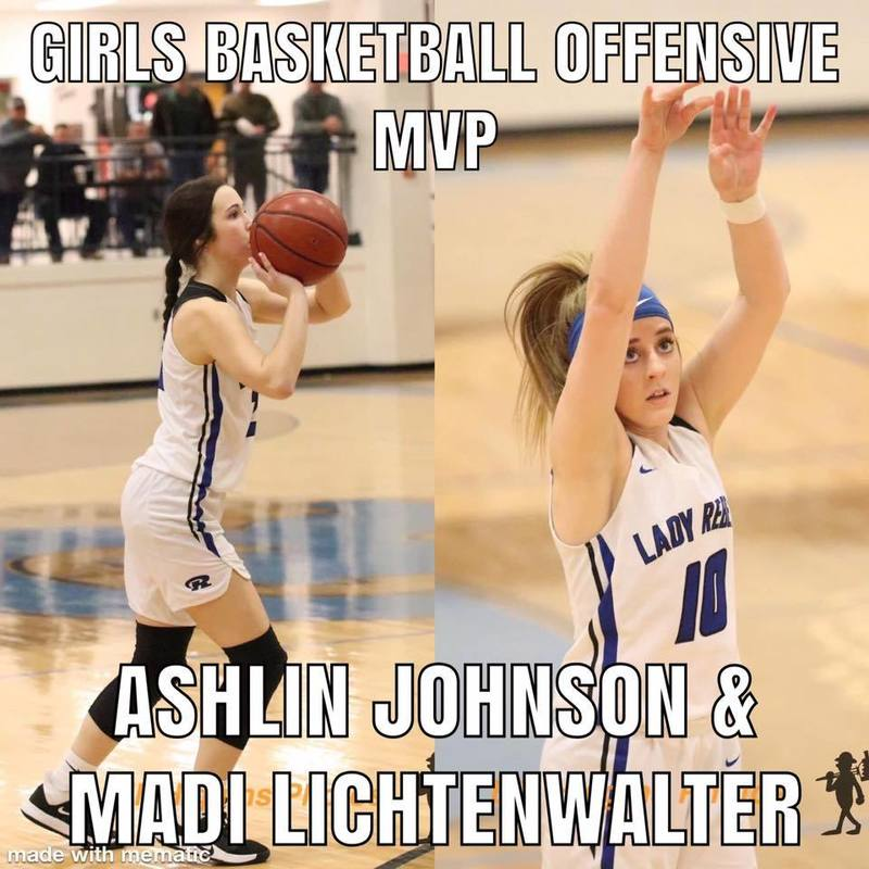 Girls Basketball Offensive MVP Ashlin Johnson & Madi Lichtenwalter